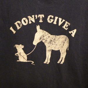 Vintage I don't give a rat's A$$ funny T-Shirt